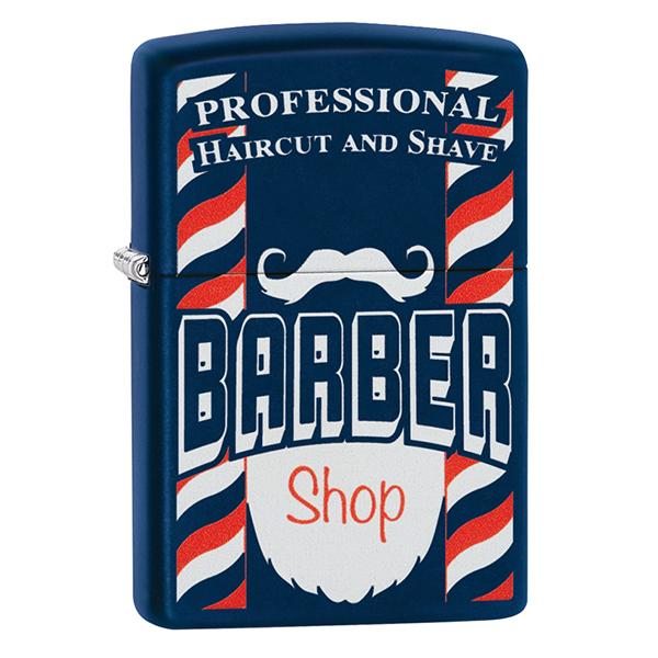 Zippo 29919 Navy Matte Barber Shop