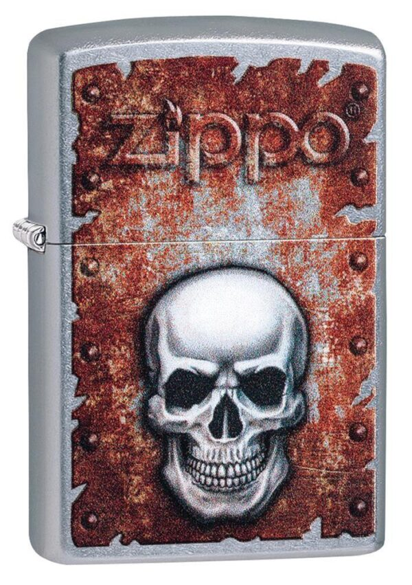 Zippo 29870 Rusted Skull Design