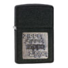Zippo 362 Black Crackle Gold Zippo Logo