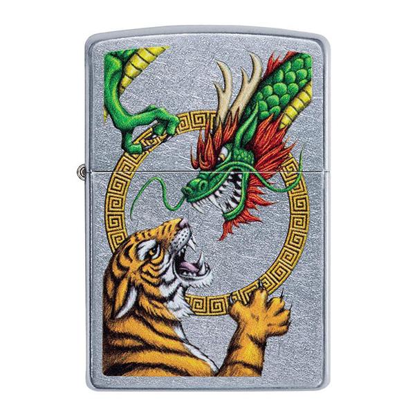 Zippo 29837 Chinese Dragon Street Chrome Design