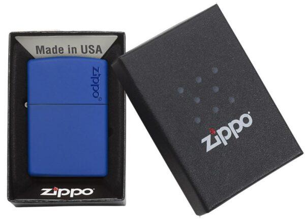 Zippo 229ZL Royal Blue Matte with Zippo Logo