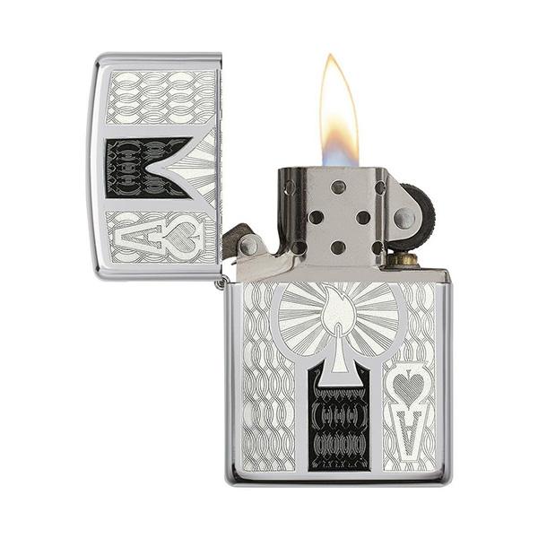 Zippo 24196 Intricate Spade Design