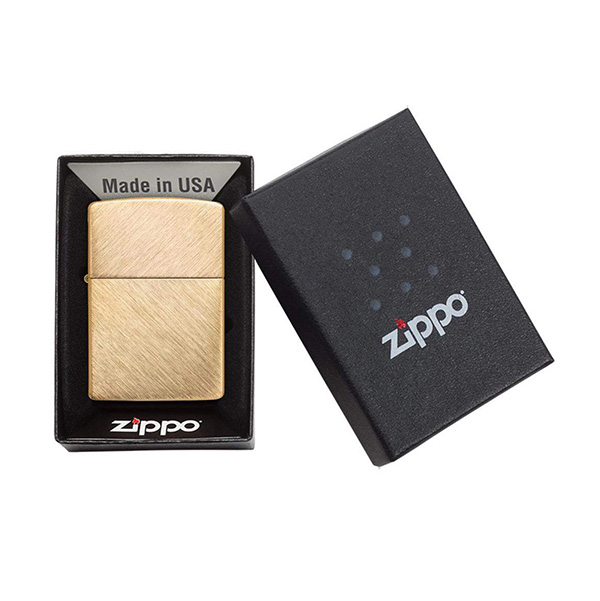Zippo 29830 Classic Herringbone Sweep Brass