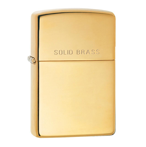 Zippo 254 High Polish Solid Brass