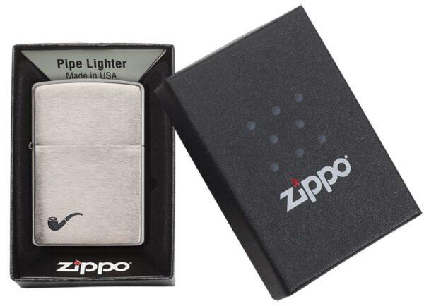 Zippo 200PL Pipe Brushed Chrome