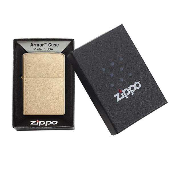 Zippo 28496 Armor Tumbled Brass