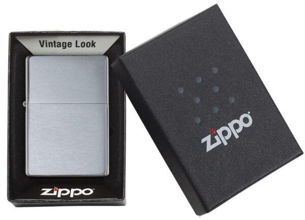 Zippo 230.25 Brushed Chrome Vintage