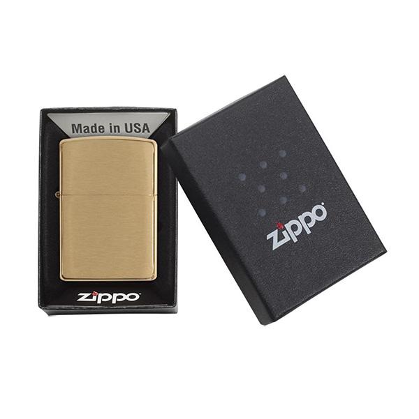 Zippo 204B Brushed Brass
