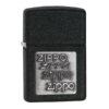 Zippo 363 Black Crackle Silver Zippo Logo