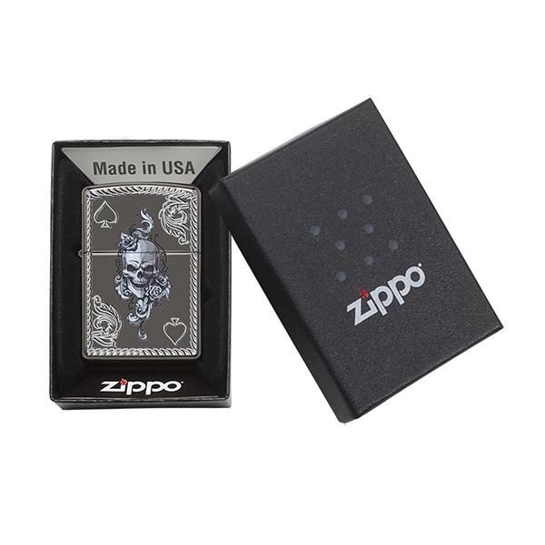 Zippo 29666 Spade & Skull Design