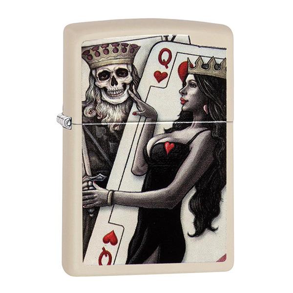 Zippo 29393 Skull, King, Queen Beauty