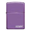 Zippo 24747ZL Classic High Polish Purple Zippo Logo