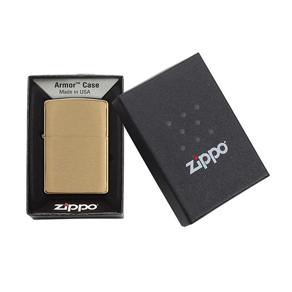Zippo 168 Armor Brushed Brass