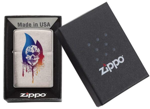 Zippo 29721 Skull Flame