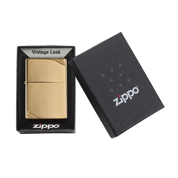 Zippo 270 High Polish Brass Vintage with Slashes