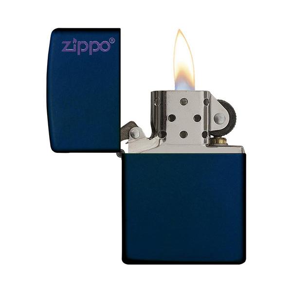 Zippo 239ZL Navy Matte with Zippo Logo