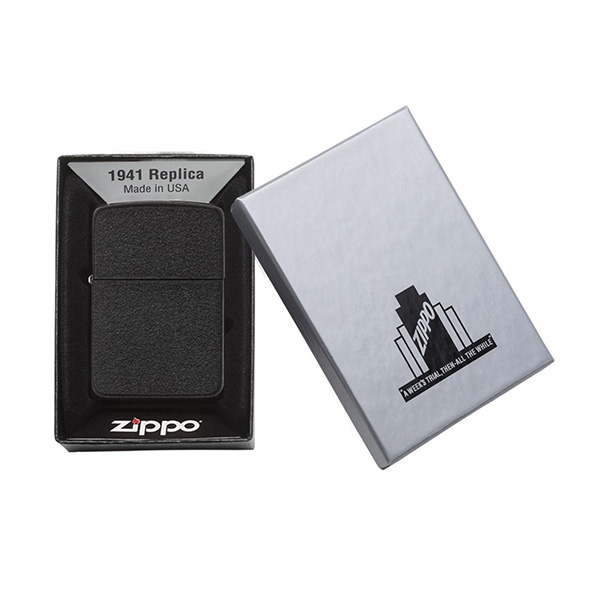 Zippo 28582 Black Crackle 1941 Replica