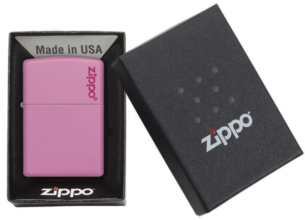 Zippo 238ZL Pink Matte with Zippo Logo