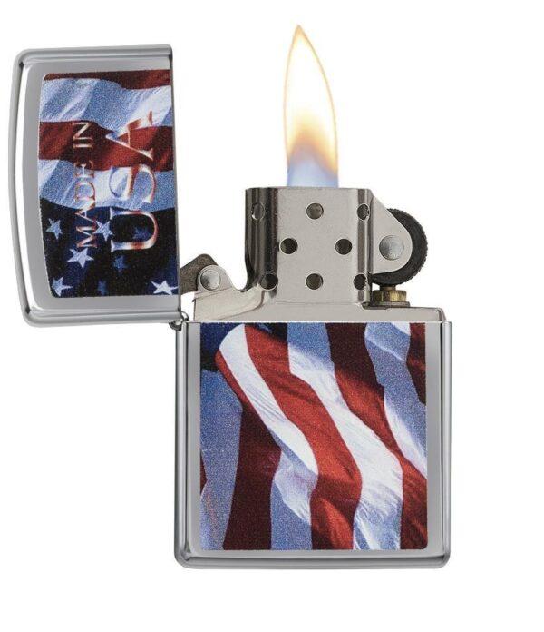 Zippo 24797 Made in USA Flag