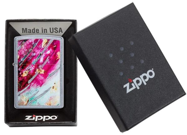 Zippo 29875 Rust Patina Street Chrome