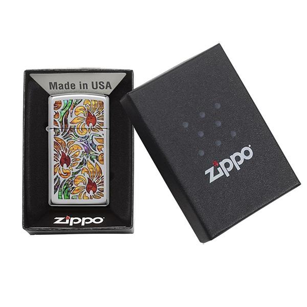 Zippo 29702 Fusion Floral Design