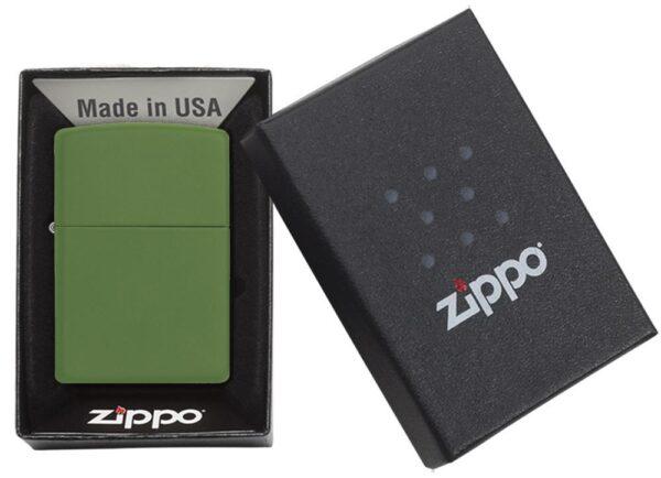 Zippo 228 Moss Green Matte