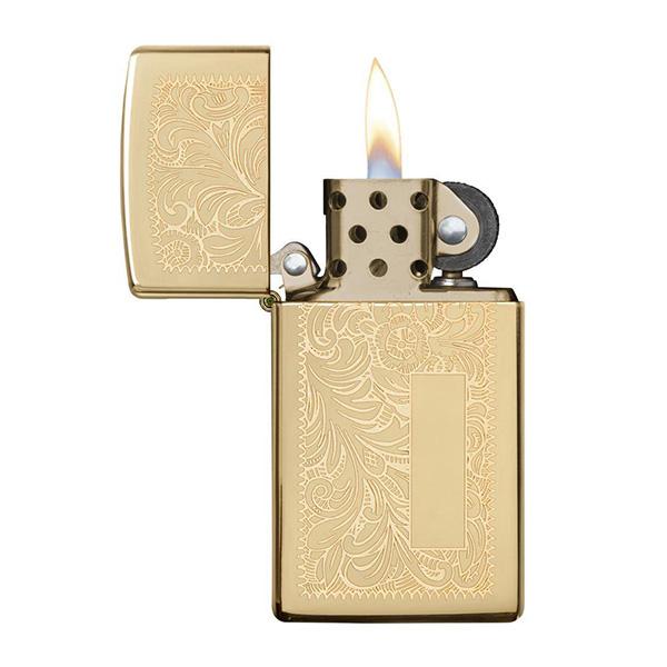 Zippo 1652B Slim Venetian High Polish Brass