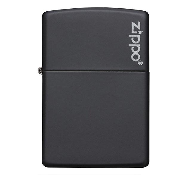 Zippo 218ZL Black Matte with Zippo Logo