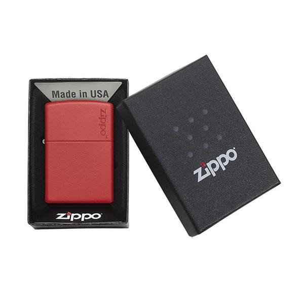 Zippo 233ZL Red Matte with Zippo Logo