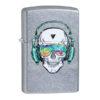 Zippo 29855 Skull Headphone Design