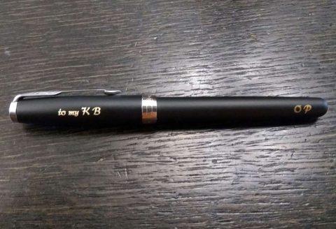 Гравировка ручки Parker Sonnet