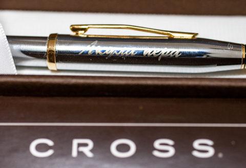 Гравировка на ручке CROSS